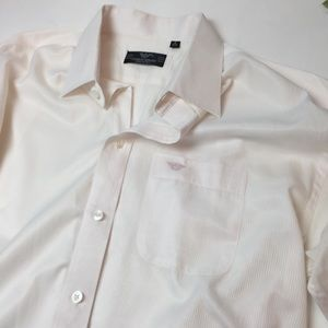 Giorgio Armani White Baby Pink Button Down Shirt